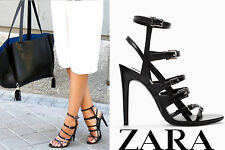 ZARA BLACK LEATHER HIGH HEEL SANDAL BOOTIE - BNWT AND SOLD OUT!