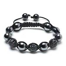 Bling Jewelry Black Pave Crystal Shamballa Inspired Bracelet Beads 12mm