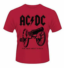 AC/DC T-SHIRT FOR THOSE ABOUT TO ROCK Rote Special Edition Rock n Roll ACDC