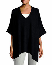 $445 nwt VINCE 100% Cashmere Ribbed Poncho Top Sweater Cape ~ Womens SIZES XS-L