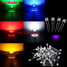 5mm Straw Hat UV Purple/Blue/Green/Red/White/ Color LED Wide Angle Light Lamp MO