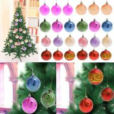 6pcs Multi Styles Christmas Tree Decoration Festive Ornament Baubles Ball 60mm