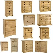 Corona Panama Chest Of Drawers Bedside Bedroom Mexican Solid Pine Furniture Sale
