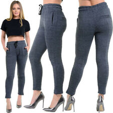 Womens Ladies Sexy High Waist 3 Button Skinny Jeans Stretch HAREM STYLE JOGGER