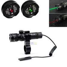Hunting Tactical Green Red Dot Laser Sight Rifle Gun Scope Mount Picatinny Rail
