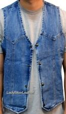 Mens 10 POCKET Distressed BROWN Leather CONCEALED Motorcycle CLUB Vest LACES