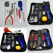 Watch Repair Tool Kit Link Remover Spring Bar Tool Case Box Opener Screwdriver