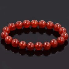 Red Agate Stone Beaded Bracelet Genuine Gemstone Bracelet Stretch Bangle Chic