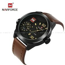 Gifts Men's Naviforce Fashion Wrist Watch Quartz Date Leather Army Analog Sport