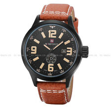 Army  Analog Sport Wrist Watch 9057 Fashion Naviforce Men's Quartz Date Leather