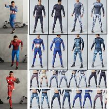 LONG Cycling Men's Pants Marvel Super Hero Compression Gym Sport Gym Trousers