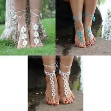 Women Girl Barefoot Sandals Foot Jewelry Crochet Anklet Bracelet Ankle Chain