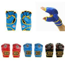 1 Pair Gym Thai Sparring Training Boxing Punch Ultimate Mitts Fingerless Gloves
