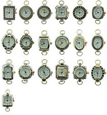 Lot of Classic Beading Watch Faces with Loops Two Tone
