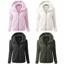 Women Hooded Slim Parka Warm Winter Thicken Fleece Coat Zip Up Jacket Overcoat