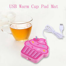 Cartoon Creative Silicone Electric Insulation Coaster USB Warm Cup Pad Mat SM