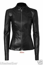 New Original Napa Designer Slim Fit Soft Lambskin Leather Jacket For Women W- 27