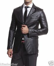 New Dashing Corporates TWO BUTTON Stylish Soft Napa Leather Blazer For Men MB16