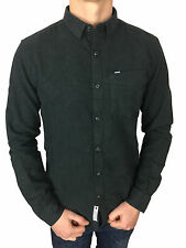 Superdry Mens Academy Oxford Long Sleeved Onyx Marl Grey Shirt in Size XXL