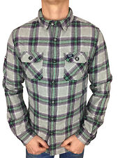 SALE £38 Superdry Mens Refined Lumberjack Shirt in Aurora Dawn Check Size Medium