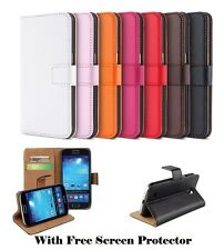 Genuine PU Leather Wallet stand case cover for Samsung Galaxy S6 & S6 Edge