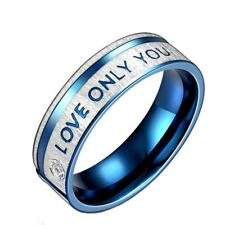 Stainless Steel LOVE ONLY YOU Letters Wedding Valentine Band Rings