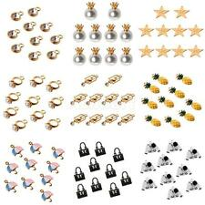 10Pcs Cute Mixed Shape Charms Pendants for Necklace Fit Bracelet DIY Jewelry