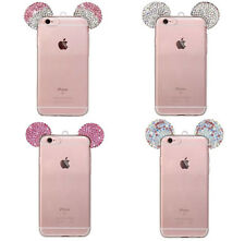 Rhinestone Mickey Mouse TPU Cover Case For iPhone 6/6S Plus iphone 7 plus