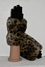 """New With Tags  Parkhurst  """"Faux Fur"""" Cuff Glove 1 Size made in Canada 21684"""