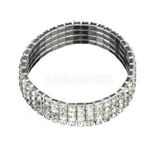 Crystal Rhinestone Stretch Bracelet Bangle Wedding Bridal Wristband Jewelry Gift