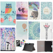 Wallet Folding Case for Samsung iPad Tablets Cute Patterns PU Leather Cover