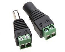 1~10Pairs 12v DC Male&Female Power Balun Connector Adapter Plug Jack For CCTV MG