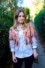 Anthropologie Guajava Cardigan M, Mixed Textures Fringed Sweater Cardi By Moth