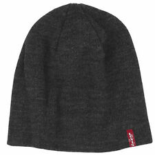 LEVIS RED TAB WOOLY BEANIE / BEANY HAT STYLE OTIS - DARK GREY
