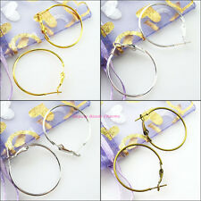 12Pcs Jewelry Lot Circle Basketball Wives Hoops Earrings Wholesale 30mm