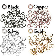 100 Pack - 6mm ID Open Jump Rings - 19 GA - TierraCast - choose from 4 colors