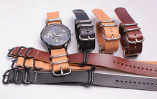 factory wholesale genuine cow leather Watch band watch strap 10pcs/lot
