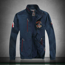 001 New fashion men's 3Color ancient embroidery through Paul shark jacket M-XXL