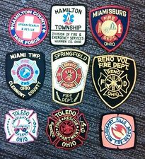 9 Fire Dept Patches from Ohio-Various Fire Departments-Lot 2