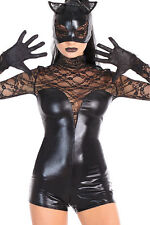 COSTUME SEXY CATSUIT MASK ET GLOVES COSTUME CAT GOTHIC WOMAN CATWOMAN