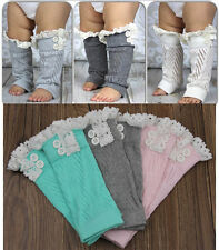 Fashion Children's Crochet Knit Lace Trim Leg Warmers Cuffs Toppers Boot Socks