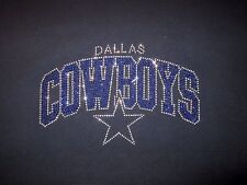 Dallas Cowboys Rhinestone Bling vneck ladies Tshirt