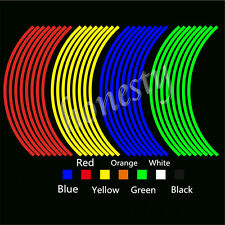 """18"""" Colorful Motorcycle Car Wheel Rim Tape Decal Stripes Stickers Reflective"""