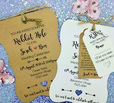 Alice in Wonderland Personalised Wedding Invite Day/ Evening Reception