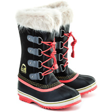 SOREL Youth Joan Of Arctic Boots sizes 1-2-3-4-5-6 Girl's Fur Trim Suede Leather