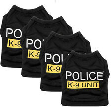 New Cat Dog Vest Police Puppy T-Shirt Coat Pet Clothes Summer Apparel Costumes