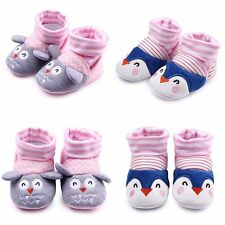 Newborn Infants Baby Toddler Girls Anti-Slip Socks Shoes Slipper Sweet Prewalker