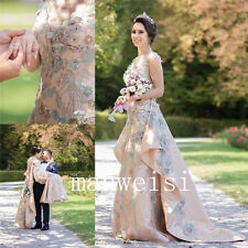 Luxury Embroidery Wedding Bridal Gowns Beads Crystals Detachable Train Dress New
