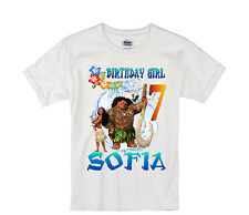 Moana birthday shirt Personalized Custom Name Age Kids T-Shirt