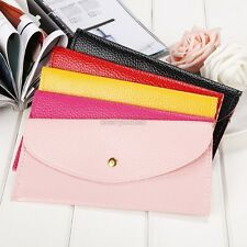 New Women Candy Color Envelope Clutch Bag Thin Wallet Purse Card Holde CYBD